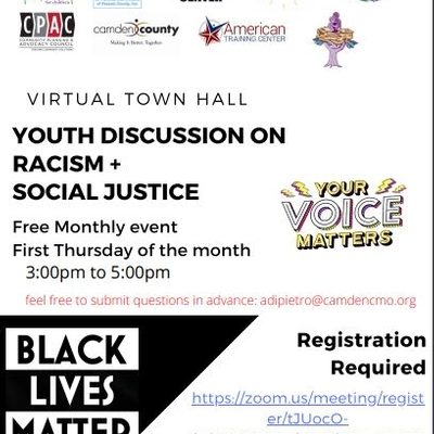 Virtual Town Hall Youth Discussion on Racism + Social Justice - Copy
