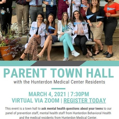 Parent Town Hall with the Hunterdon Medical Center Residents