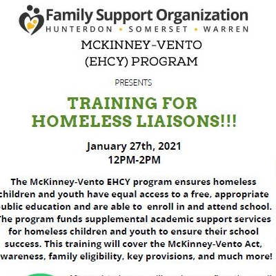 McKinney-Vento Program presents Training for Homeless Liaisons